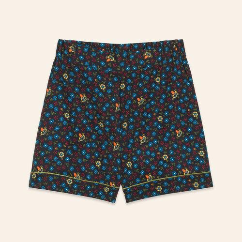 Short con estampado floral - Faldas y shorts - MAJE
