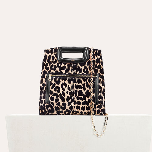 Bolso con estampado de leopardo - Bolso M - MAJE