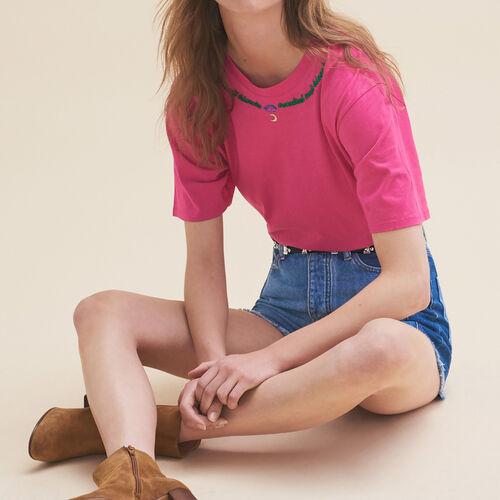 Camiseta bordada Viernes - Tops - MAJE