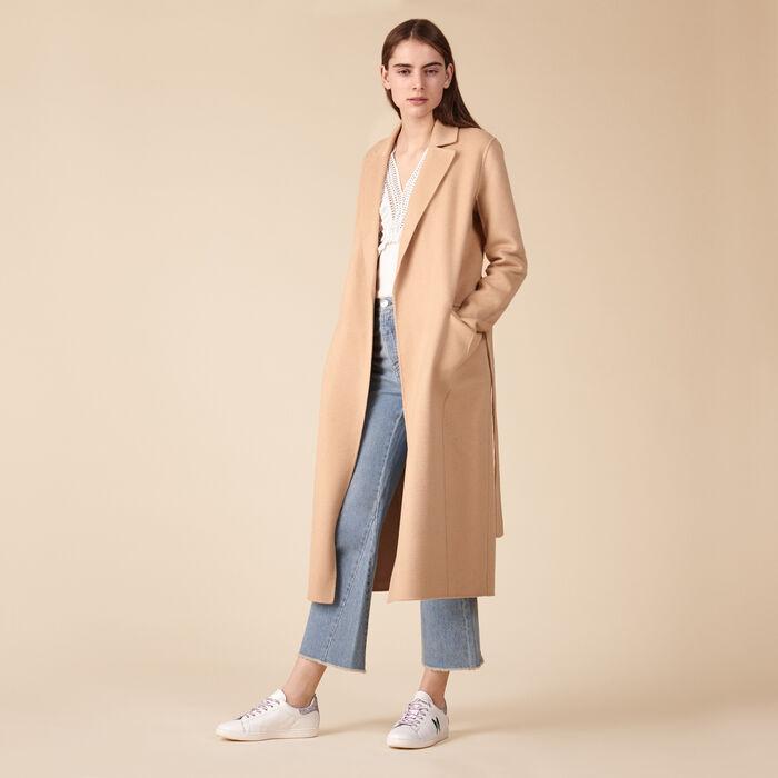 Abrigo de mezcla de lana - Abrigos - MAJE