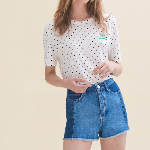 Camiseta bordada Lunes - Tops - MAJE