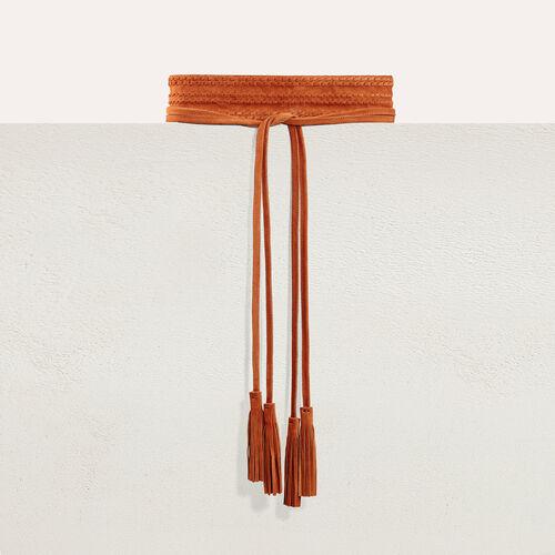 Cinturón ancho de ante para anudar - Cinturones - MAJE