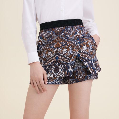 Short efecto 2 en 1 de jacquard - Faldas y shorts - MAJE