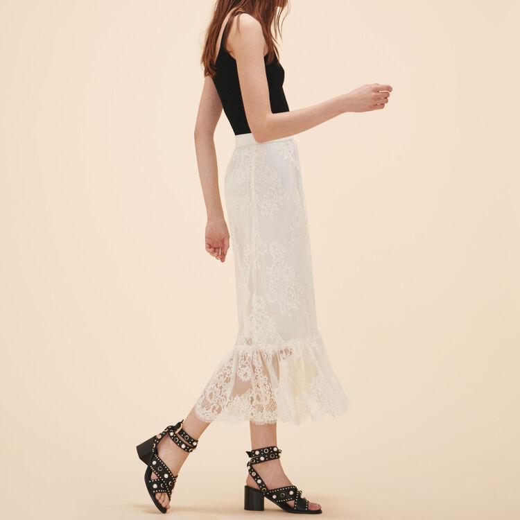 Falda larga de encaje - Faldas y shorts - MAJE
