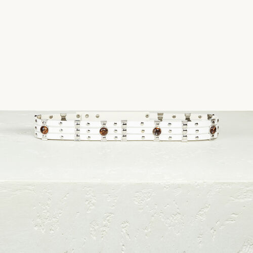 Cinturón de piel con tachuelas - Cinturones - MAJE