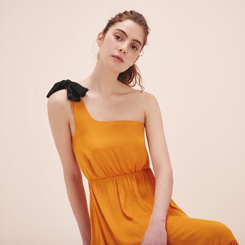 Vestido largo asimétrico - Vestidos - MAJE