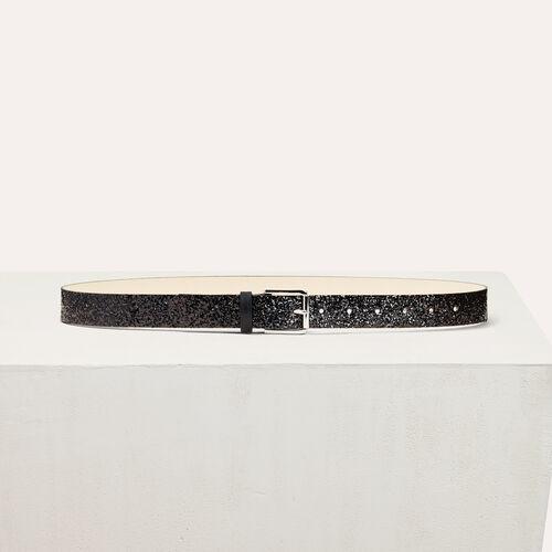 Cinturón con efecto de purpurina - Cinturones - MAJE