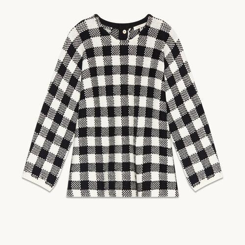 Jersey corto de jacquard vichy - Malla - MAJE