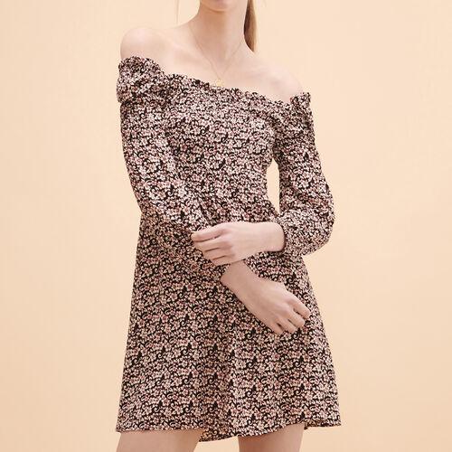 Vestido corto con estampado floral - Vestidos - MAJE