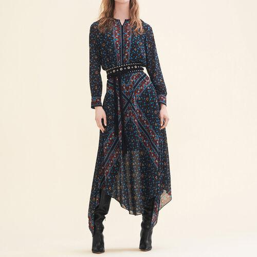 Vestido largo estampado - Vestidos - MAJE