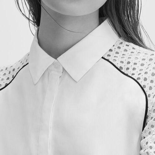 Camisa con encaje - Tops - MAJE
