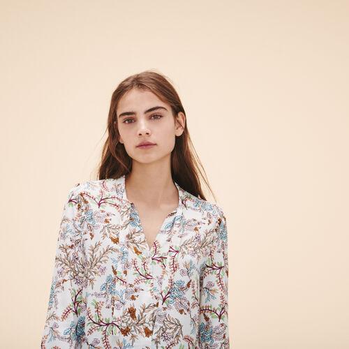 Blusa con estampado floral - Tops - MAJE