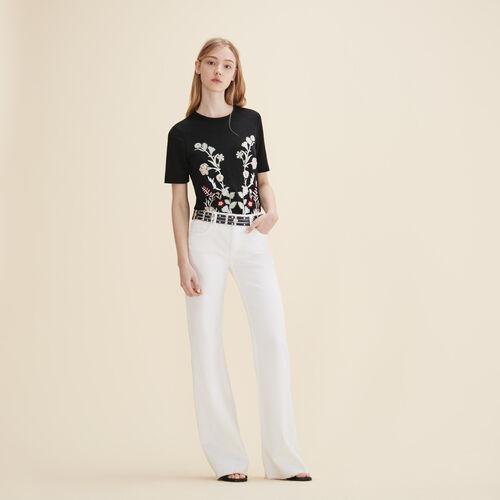Camiseta con bordado - Tops - MAJE