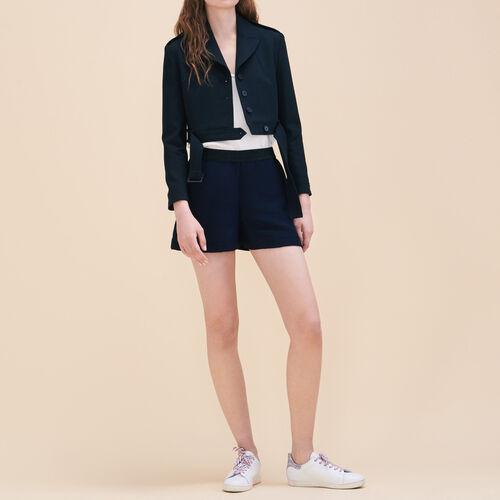 Short corto de tela de otomán - Faldas y shorts - MAJE