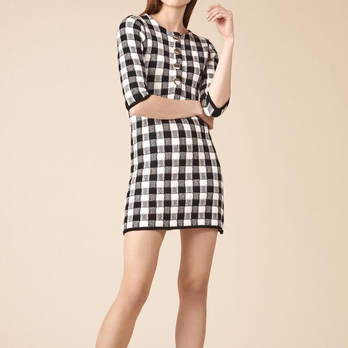 Vestido corto de punto -  - MAJE