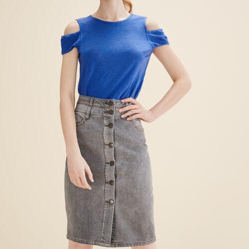 Falda tubo vaquera - Faldas y shorts - MAJE