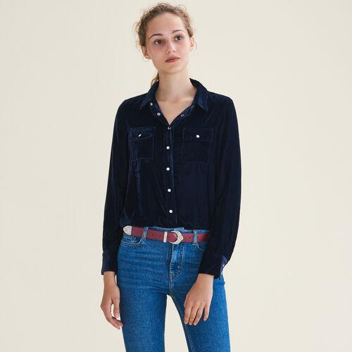 Camisa de terciopelo - Tops - MAJE