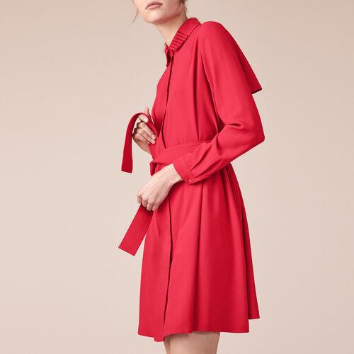 Vestido camisero de crepé - Vestidos - MAJE
