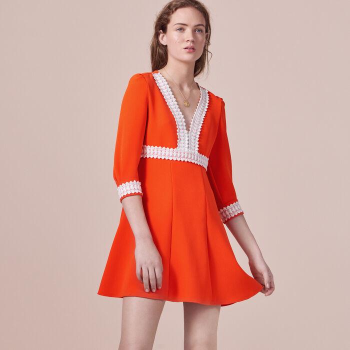 Vestido corto de crepé -  - MAJE