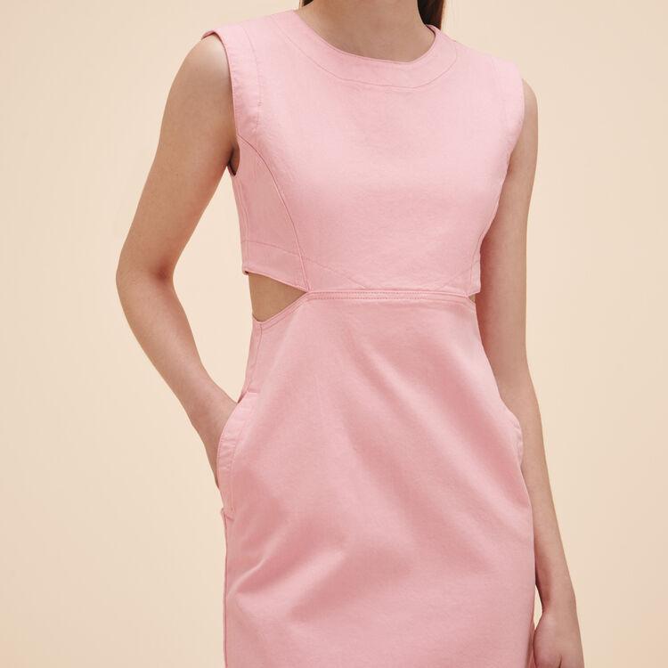 Vestido sin mangas de denim - Vestidos - MAJE