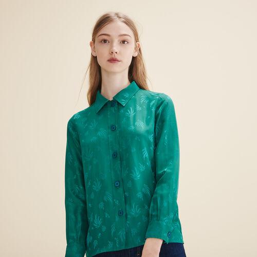Camisa bordada de seda - Tops - MAJE