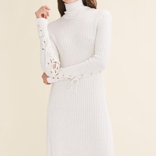 Vestido largo de punto tubular - Vestidos - MAJE