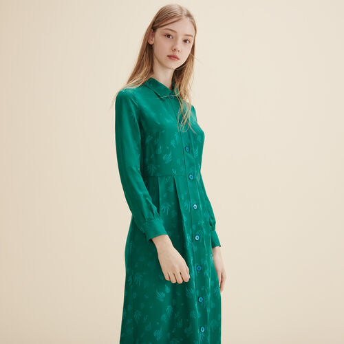 Vestido camisero de seda - Vestidos - MAJE