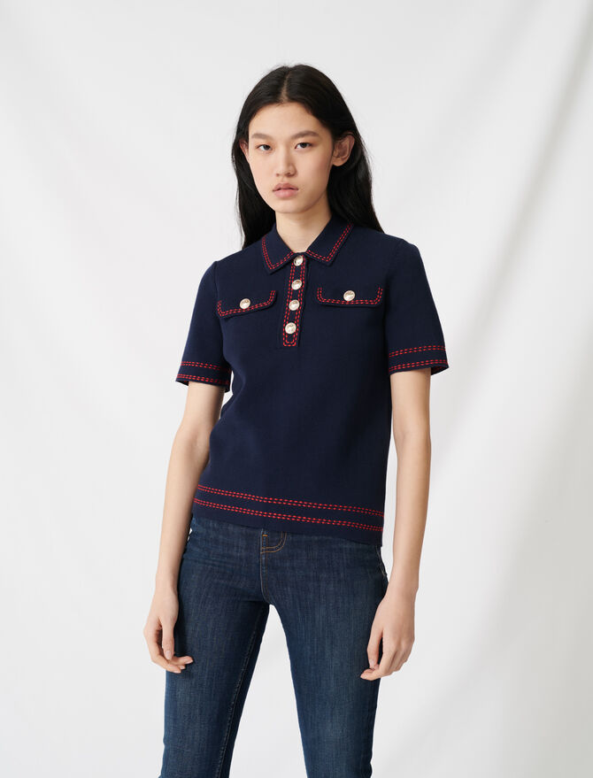 Jersey de manga corta estilo polo -  - MAJE