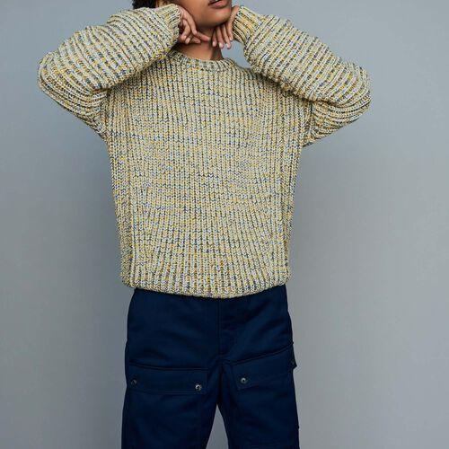Jersey oversize de punto fantasía : Malla color Multicolor
