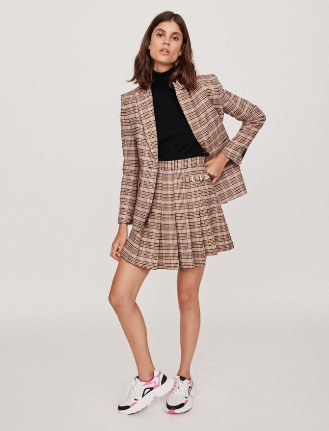 Falda plisada de cuadros tipo kilt - Faldas y shorts - MAJE
