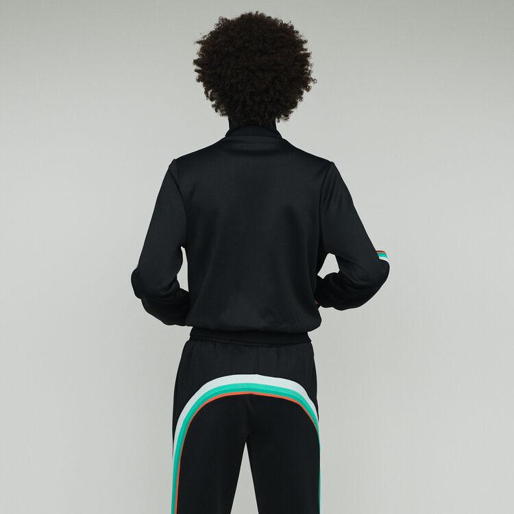 Chaqueta de deporte con cremallera : Chaquetas color Negro