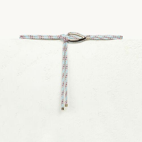 Cinturón de cuerda con bisutería - null - MAJE