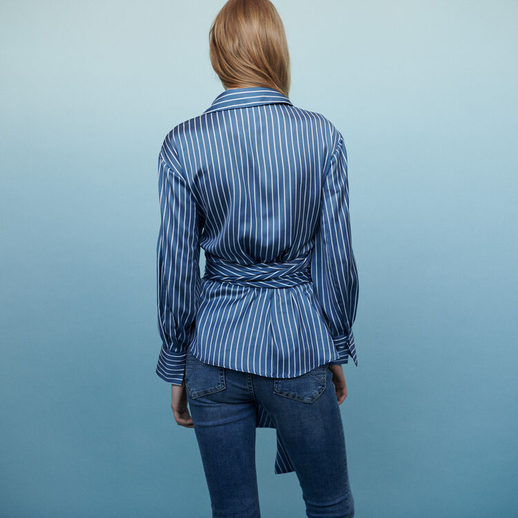Blusa envolvente con rayas : Tops y Camisas color Rayas