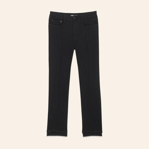 Vaquero recto con bajo asimétrico : Pantalones y vaqueros color Negro