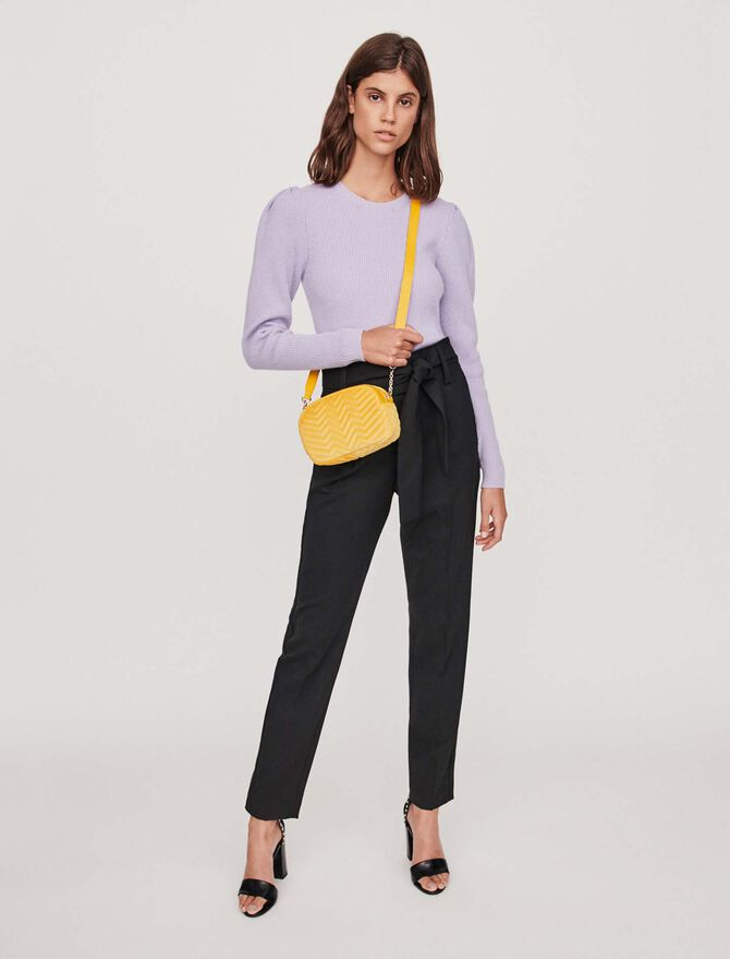 Pantalon carotte avec ceinture - Pantalones y Jeans - MAJE