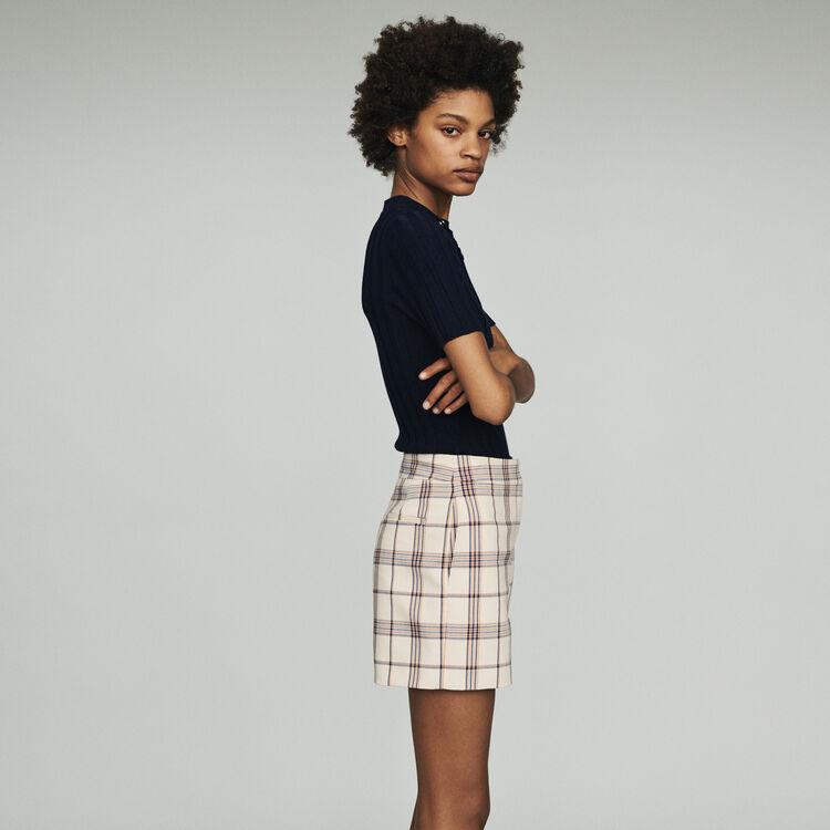 Short de cuadros : Faldas y shorts color CARREAUX