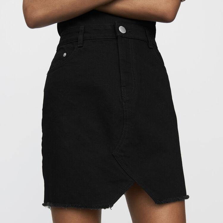 Falda corta vaquera : Faldas y shorts color Negro