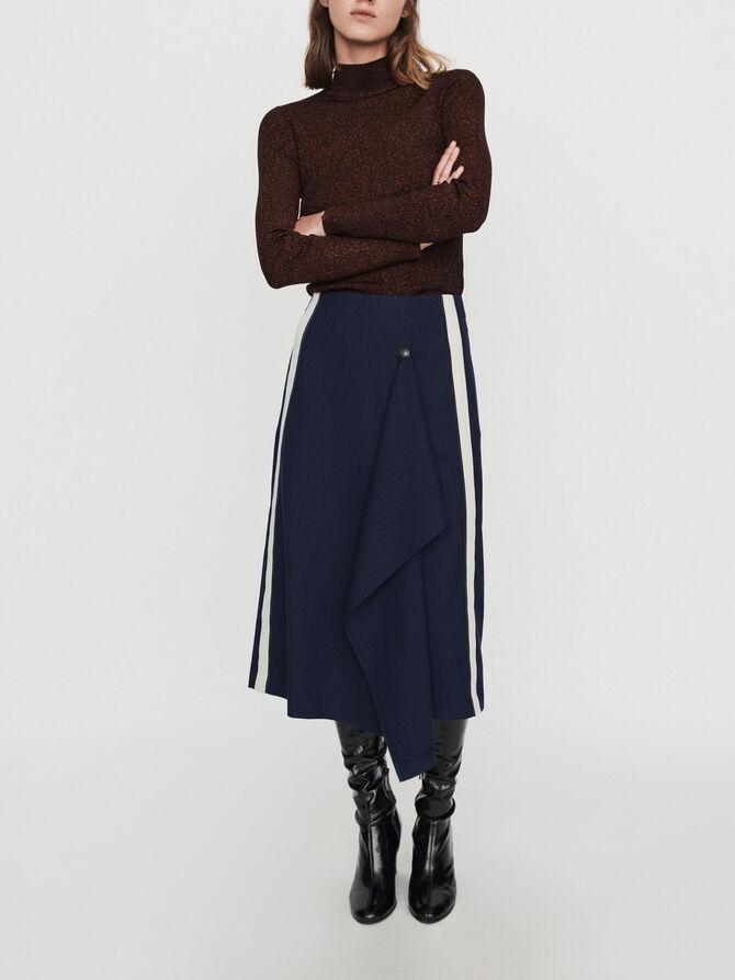 Falda de rayas tennis - Faldas y shorts - MAJE