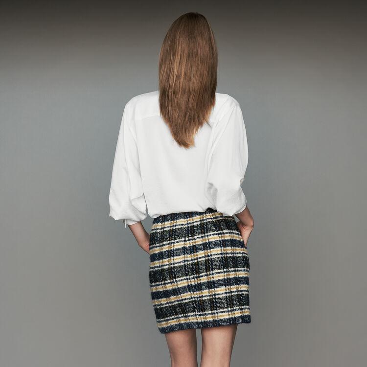 Falda corta de cuadros : Faldas y shorts color CARREAUX