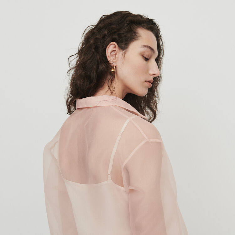 Blusa tipo organza : Camisas color Mandarina