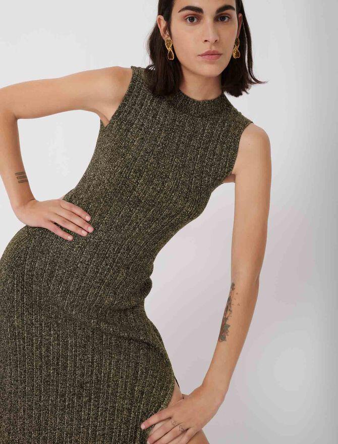 Vestido de punto lúrex - Nueva colección - MAJE