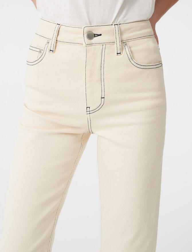 Vaquero recto pespunteado - Pantalones y Jeans - MAJE