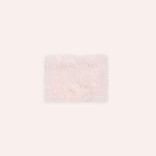Bufanda tubular de piel de conejo : Accesorios color Negro