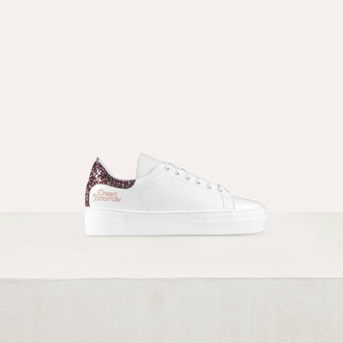 Deportivas de cuero con brillantina : Sneakers color Blanco