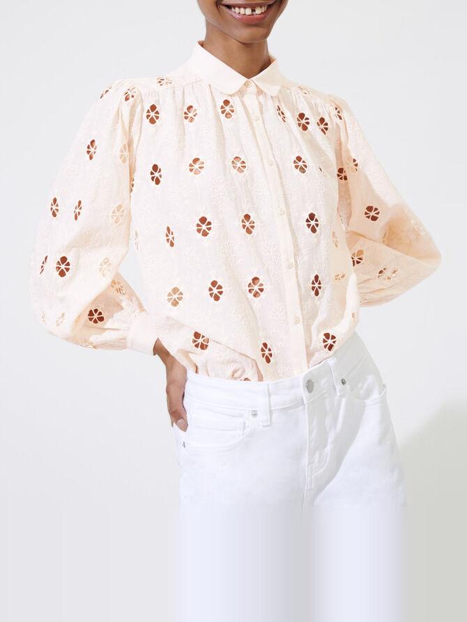 Camisa con bordados ingleses - Tops y Camisas - MAJE