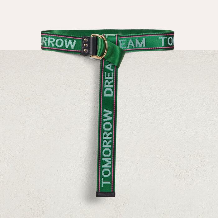 """Cinturón cincha """"Dream Tomorrow"""" : Cinturones color Verde"""