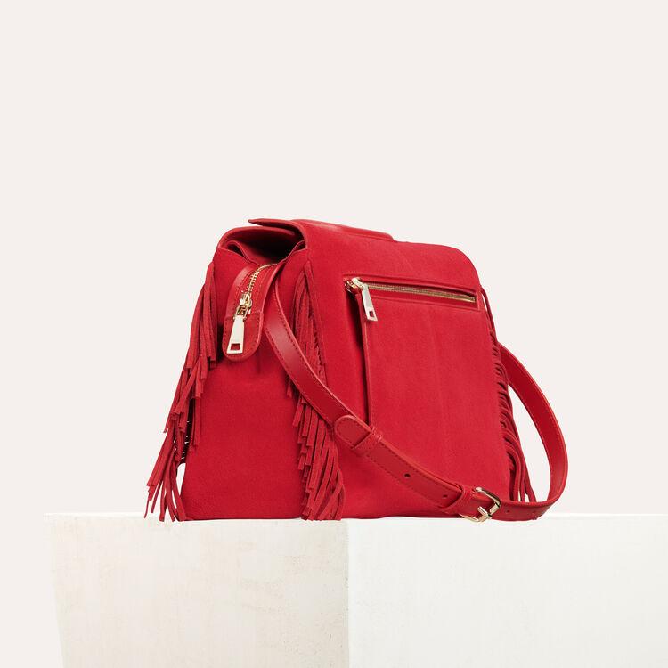 Bolso MWALK de cuero con flecos : M Walk color Rojo