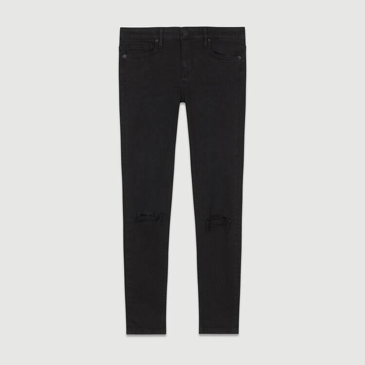 Jean slim 7/8 con bordado : staff private sale color Negro