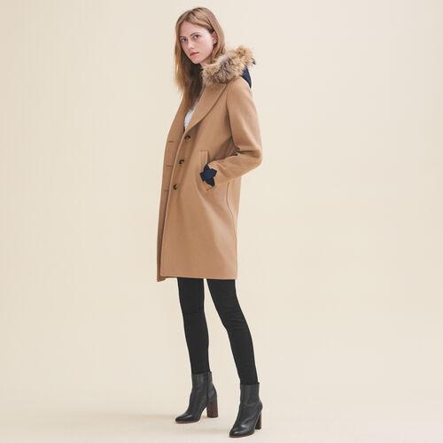 Abrigo largo de lana y cachemira - Abrigos - MAJE