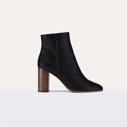 Botines de piel : Zapatos color Negro